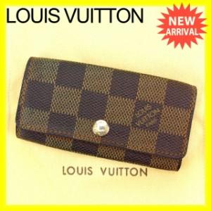 ルイヴィトン Louis Vuitton キーケース メンズ可 ミュルティクレ4 N62631 ダミエ (参考定価21000円) [中古] 激安 即納 N275