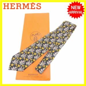 エルメス HERMES ネクタイ メンズ ティーセット柄 [中古] 良品 セール D1340