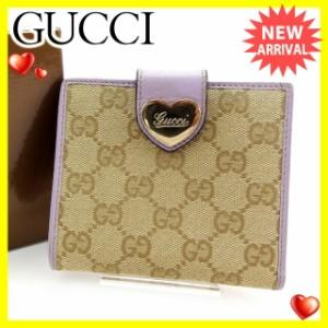 グッチ Gucci 財布 Wホック財布 GGキャンバス レディース 中古 Y3692