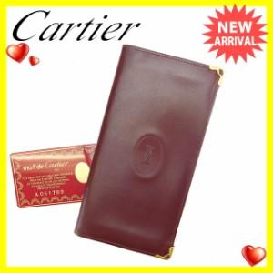 カルティエ Cartier 長札入れ 二つ折り 男女兼用 マストライン [中古] 良品 セール C2048