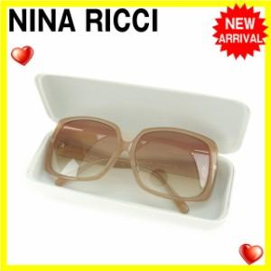 ニナリッチ NINA RICCI サングラス メガネ レディース ツイストモチーフ付き NR26550 スクエア型 [中古] 良品 セール S144