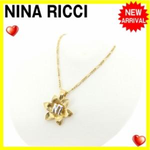 ニナリッチ NINA RICCI ネックレス アクセサリー レディース NRマーク入り 人気 セール【中古】 Y4099