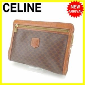 セリーヌ CELINE セカンドバッグ クラッチバッグ 男女兼用 マカダム人気 セール【中古】 Y4201