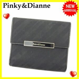 ピンキー&ダイアン Pinky&Dianne がま口財布 三つ折り財布 レディース ロゴプレート [中古] 激安 セール Q150
