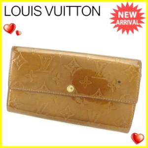 ルイヴィトン Louis Vuitton 財布 長財布 ヴェルニ レディース メンズ 中古 T2341