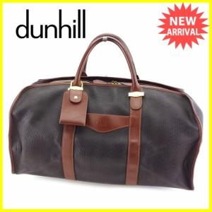 ダンヒル dunhill ボストンバッグ ハンドバッグ レディース メンズ 可 人気 セール【中古】 T3207