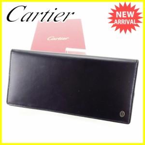 カルティエ Cartier 長財布 財布 ファスナー付き メンズ パシャ 美品 セール【中古】 T3466