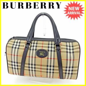 バーバリー BURBERRY ボストンバッグ トラベルバッグ ハンドバッグ レディース メンズ 可 チェック 人気 セール【中古】 T4488