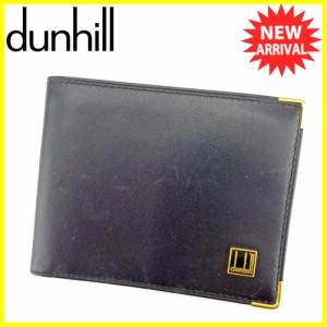 ダンヒル Dunhill 札入れ 二つ折り コンフィデンシャル メンズ 中古 T5276