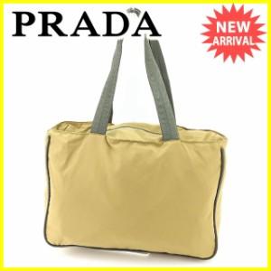 プラダ PRADA トートバッグ ショルダーバッグ レディース メンズ 可 人気 良品【中古】 Y7185