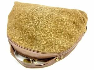 ボルボネーゼ BORBONESE ハンドバッグ メンズ可 reawallタグ付き ウズラ柄 人気 セール【中古】 Y7568