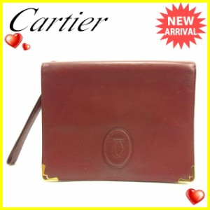 カルティエ Cartier クラッチバッグ メンズ可 マストライン [中古] 訳あり セール J17732