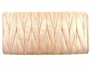 ミュウミュウ miu miu 長財布 ファスナー付き長財布 レディース マテラッセ [中古] 人気 セール J17756