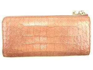 ミュウミュウ miu miu 長財布 L字ファスナー レディース クロコダイル調 [中古] 人気 セール J17764