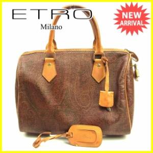 エトロ ETRO ボストンバッグ ハンドバッグ メンズ可 ペイズリー [中古] 人気 セール J17789