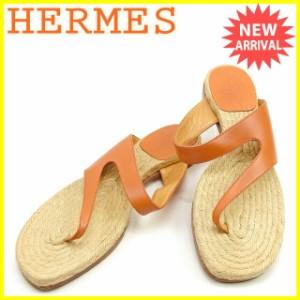 エルメス HERMES サンダル シューズ 靴 レディース ♯36 エスパドリーユ トング [中古] 人気 セール J17811