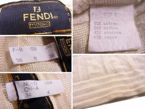 フェンディ FENDI ニット 半袖 レディース ♯USA4サイズ ズッカ [中古] 人気 セール J17852