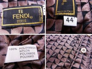 フェンディ FENDI ブラウス 半袖 レディース ♯44サイズ プリント [中古] 良品 セール J17853
