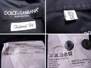 ドルチェ&ガッバーナ DOLCE&GABBANA シャツ 長袖 メンズ ダブルカフス [中古] 人気 セール J17854