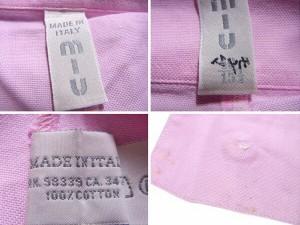 ミュウミュウ miu miu シャツ 長袖 メンズ カラー [中古] 良品 セール J17855