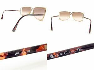 ディオール Dior サングラス メガネ メンズ可 サイドCDロゴ入り 2688 43 パイロット型 [中古] 良品 セール J17865