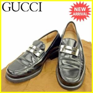 グッチ GUCCI ローファー シューズ 靴 レディース ♯36C Gマーク 良品 セール【中古】 T422