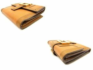 グッチ Gucci Wホック財布 二つ折り財布 メンズ可 Gマーク人気 セール【中古】 T613