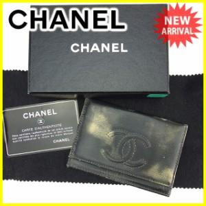 シャネル CHANEL カードケース パスケース メンズ可 ココマーク 人気 セール【中古】 T889