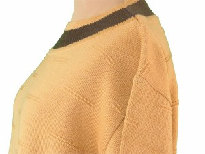 ディオール Dior ニット 長袖 セーター レディース メンズ 可 ♯Mサイズ ボートネック スポーツライン 美品 セール【中古】 T1940