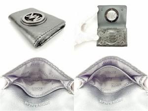 マイケルコース MICHAEL KORS カードケース 名刺入れ レディース クロコダイル調 MKマーク [中古] 人気 セール J12585