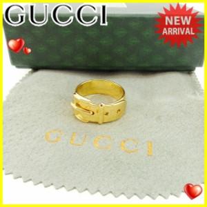 グッチ GUCCI スカーフリング 男女兼用 ベルトデザイン [中古] 美品 セール J12607