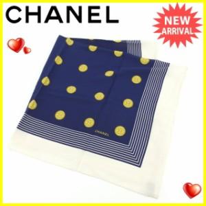 シャネル CHANEL スカーフ 大判サイズ 男女兼用 ココマーク [中古] 良品 セール J12611