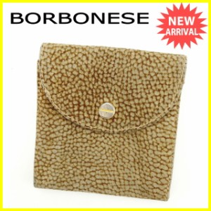 ボルボネーゼ BORBONESE コインケース 小銭入れ 男女兼用 ウズラ柄 [中古] 人気 セール J12620