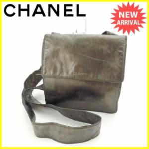 シャネル CHANEL ショルダーバッグ 斜めがけショルダー 男女兼用 ロゴ [中古] 人気 セール J12624