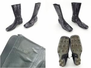 ミュウミュウ miumiu ブーツ シューズ 靴 レディース ♯37ハーフ スクエアトゥ ミドル [中古] 人気 セール J12629
