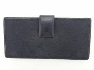 グッチ GUCCI 長財布 Wホック 男女兼用 GGキャンバス [中古] 人気 セール J12630