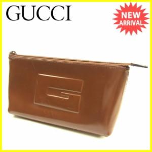 グッチ Gucci ポーチ 化粧ポーチ メンズ可 人気 セール【中古】 Y5752