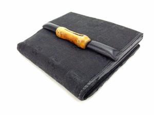 グッチ GUCCI Wホック財布 二つ折り コンパクトサイズ レディース バンブー付き GGキャンバス人気 セール【中古】 Y3633