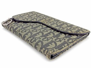 ディオール Dior 三つ折り財布 長財布 財布 メンズ可 トロッター [中古] 人気 セール A1512