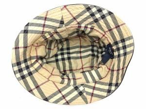 バーバリー BURBERRY 帽子 裏地ノバチェック柄 レディース メンズ 可 ♯Mサイズ ハット [中古] 人気 セール G1128