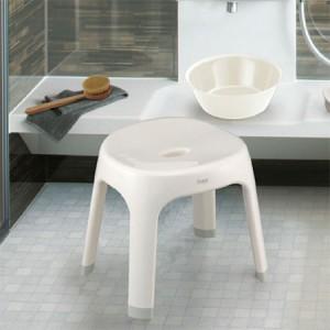 Emeal 風呂椅子 高さ25cm ホワイト [01]