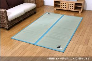 純国産 い草ラグカーペット 『くまモン 温泉』 約133×200cm [13]