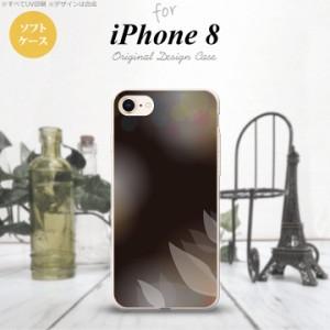 iPhone8 スマホケース カバー アイフォン8 ぼかし模様 黒 nk-ip8-tp1595