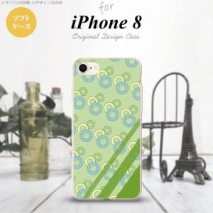 iPhone8 スマホケース カバー アイフォン8 丸 緑 nk-ip8-tp1662