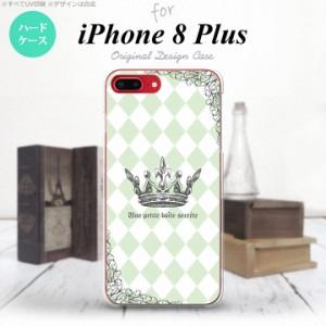 iPhone8Plus スマホケース カバー アイフォン8プラス 王冠 緑 nk-ip8p-1456