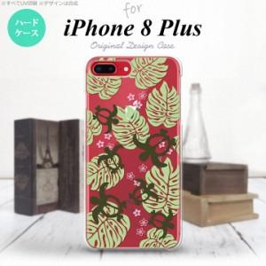 iPhone8Plus スマホケース カバー アイフォン8プラス ホヌ・小 クリア×緑 nk-ip8p-1462