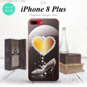 iPhone8Plus スマホケース カバー アイフォン8プラス ハート(E) 黒 nk-ip8p-236