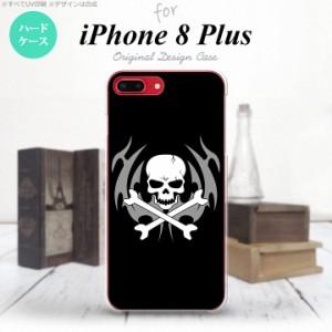 iPhone8Plus スマホケース カバー アイフォン8プラス ドクロ(B)  nk-ip8p-513