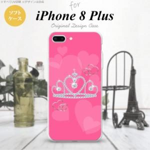 iPhone8Plus スマホケース カバー アイフォン8プラス クラウン ピンク nk-ip8p-tp601