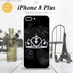 iPhone8Plus スマホケース カバー アイフォン8プラス クラウン 黒 nk-ip8p-tp603